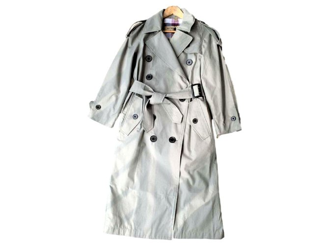 Burberry Burberry Classic long trench coat UK4 Trench coats Cotton Beige ref.110842