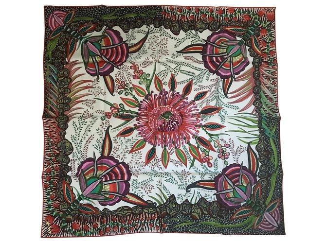 Hermès Square Hermes 90 Flower of South Africa Silk scarves Silk Multiple colors ref.111152