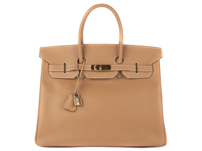 Hermès Sublime Hermes Birkin 3( leather Courchevel Gold, GHW in excellent condition! Handbags Leather Golden ref.111210
