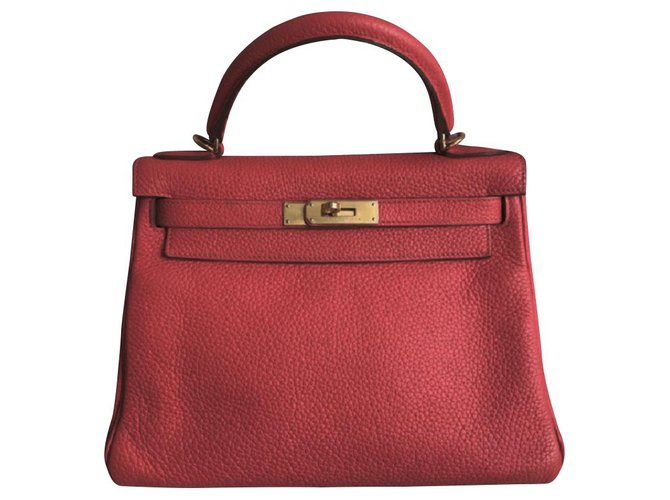 Hermès hermes kelly 28 in rouge casaque with gold hardware Handbags Leather Red ref.111214