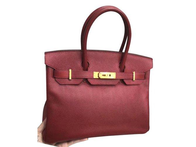 472f029ff2ef Hermès HERMES BIRKIN 30 in Rouge H Epsom with GHW Handbags Leather Red  ref.111215