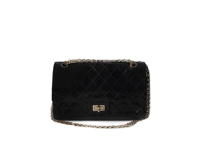 Chanel Chanel bag 2.55 vintage black quilted leather in good condition! Handbags  Leather Black ref 36dd754f2e404