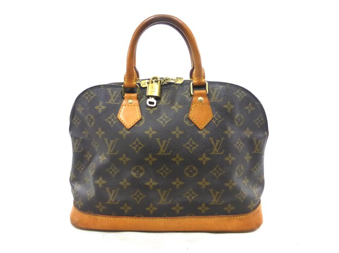 a84a0efaac6a Louis Vuitton ALMA MONOGRAM Handbags Leather Brown ref.111448 - Joli ...