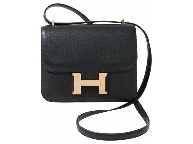 Sacs à main Hermès HERMES CONSTANCE MINI Cuir Noir ref.111712