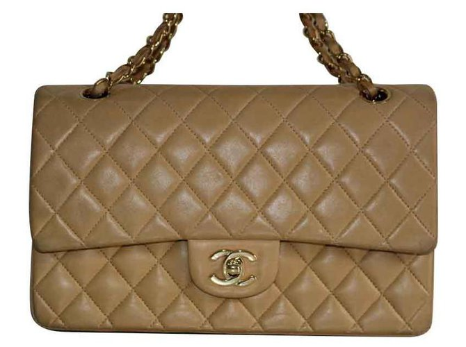 Chanel TIMELESS Handbags Leather Beige ref.111755