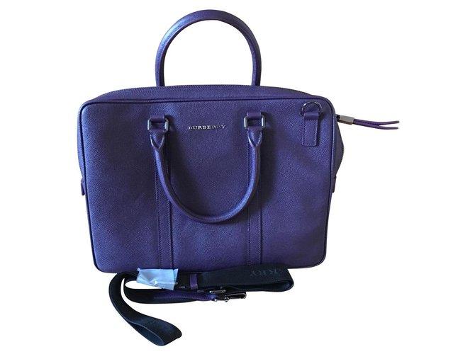 Burberry Handbags Handbags Leather Purple ref.111904
