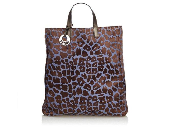 6022cbd4140d Fendi Printed Jacquard Tote Bag Totes Leather