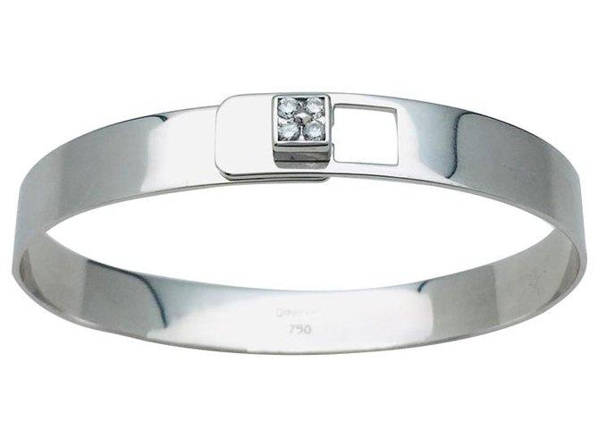 """Bracelets Dinh Van Bracelet Dinh Van, """"Serrure Cube"""", en or blanc et diamants. Autre Autre ref.113055"""