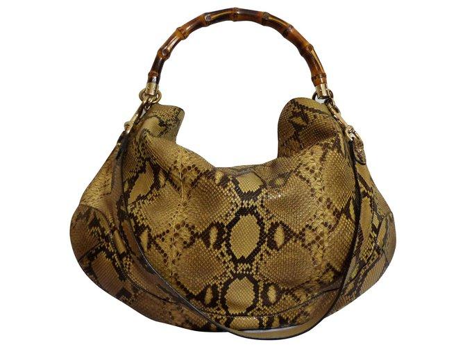 f9a575955 Gucci Handbags Handbags Python Caramel ref.113147 - Joli Closet