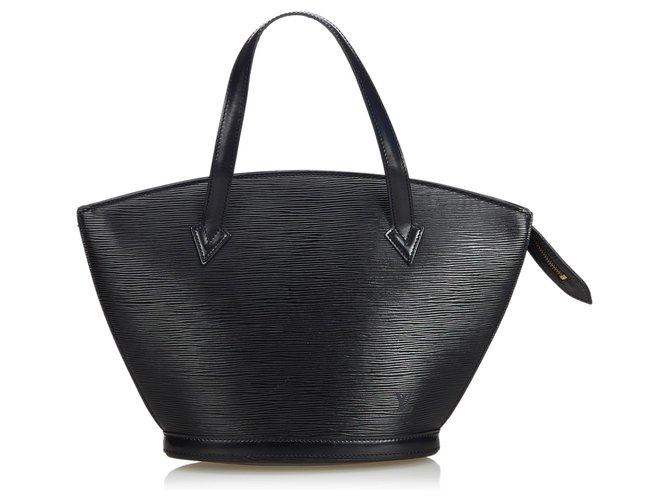 dfd21f52b3ed Louis Vuitton Epi Saint Jacques GM Long Strap Handbags Leather Black  ref.113198