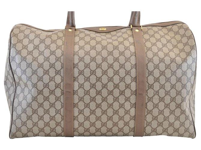 b59790d0117 Gucci Gucci Boston Bag Handbags Cloth Brown ref.113232 - Joli Closet