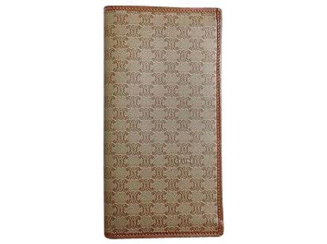 Céline Céline Macadam Wallet Purses, wallets, cases Leather Brown ref.113263