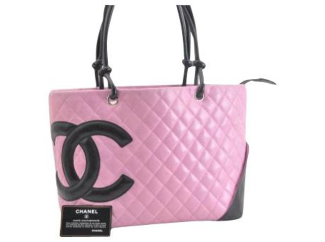 efec370b3f6c Chanel Chanel Cambon Tote Bag Totes Patent leather Pink ref.113283 ...