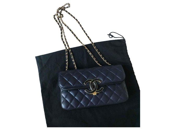 96bee721efdb Chanel 2018 Avec carte ,Boite, dustbag! Handbags Leather Black,Navy blue,