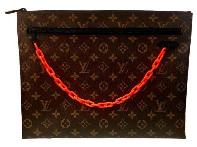Louis Vuitton Vergil Abloh Geldbörsen Kleine Accessoires Leinwand Braun ref.113308