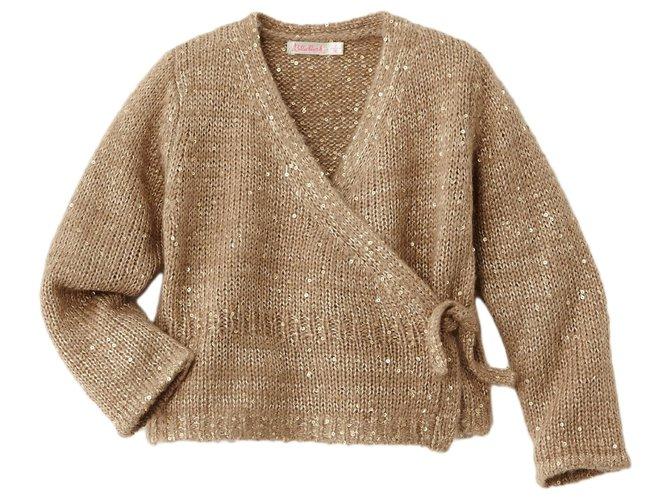 Billieblush BILLIEBLUSH VEST Sweaters Acrylic Beige ref.113428