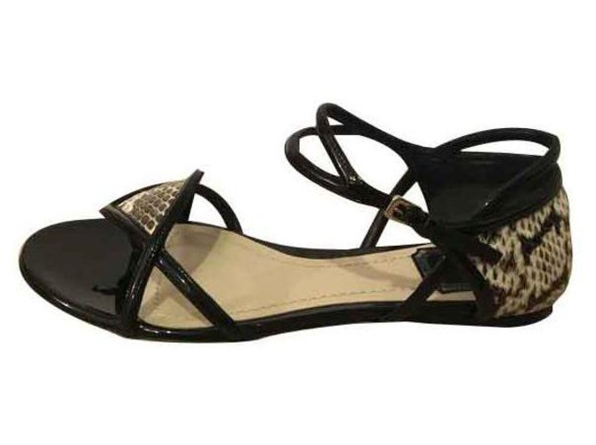 Christian Dior Sandals Black Exotic leather  ref.113561