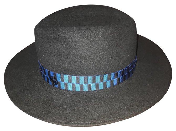 Maison Michel Hats Hats Rabbit Black ref.113618