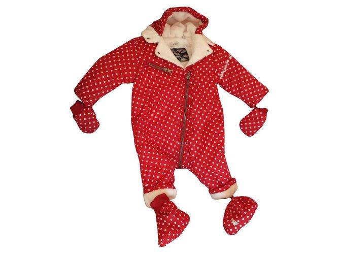 Ikks IKKS jumpsuit girl or boy One piece Jacket Cotton Red ref.113767