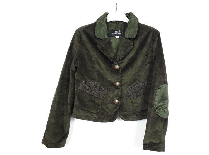 Patrizia Pepe Patrizia Pepe Velvet Blazer Size 6yo green velvet Girl Coats outerwear Velvet Dark green ref.113829