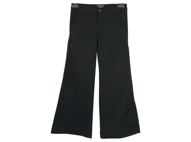 Pantalons fille Ra-re Pantalon pattes d'elephant Coton Noir ref.113839