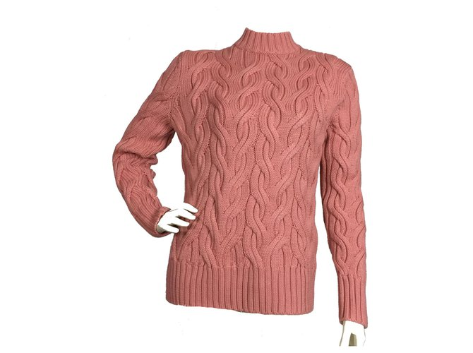 2ca2592b97e7 Cos Cable knit wool pink sweater Knitwear Wool Pink ref.113946 ...