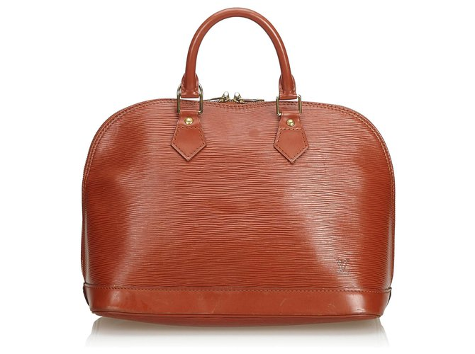 Sacs à main Louis Vuitton Epi Alma PM Cuir Marron ref.114052