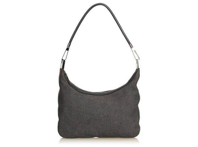 b9fc07f3f23 Gucci Web Denim Shoulder Bag Handbags Leather