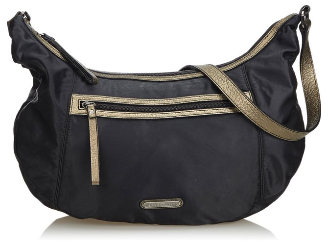 6d7318572721 Burberry Nylon Hobo Bag Handbags Leather