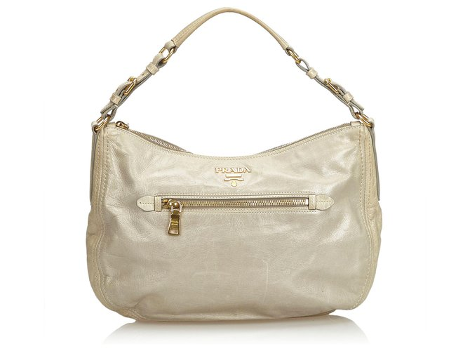 Prada Hobo Tasche aus Leder Handtaschen Leder,Andere Andere