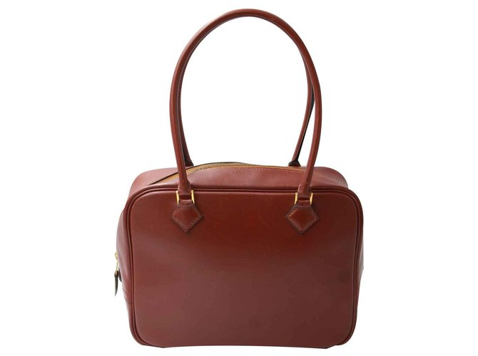 Hermès Mini Feather Handbags Leather Brown ref.114342