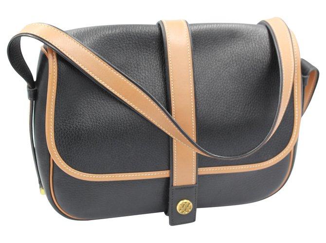 Hermès Noumea Handbags Leather Black ref.114353
