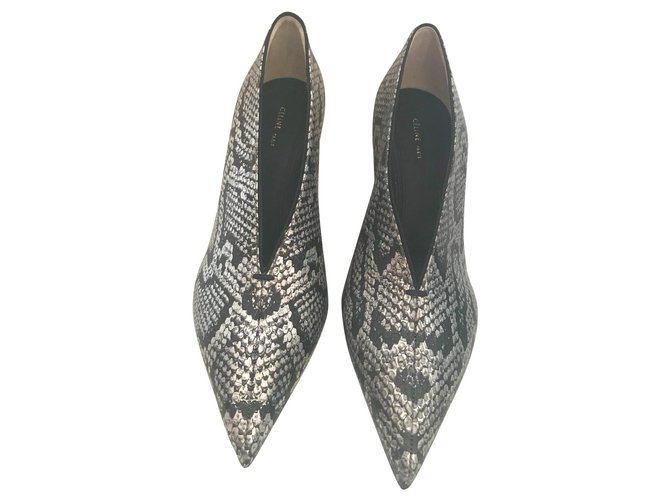 Céline Heels Heels Leather Metallic ref.114507