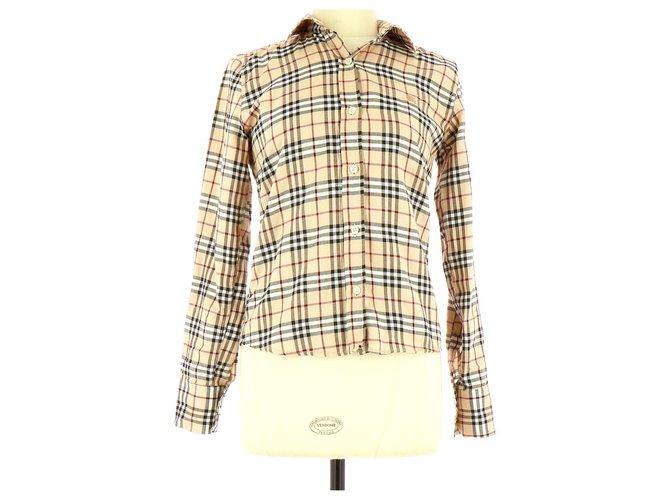 Burberry Shirt Tops Cotton Beige ref.114745