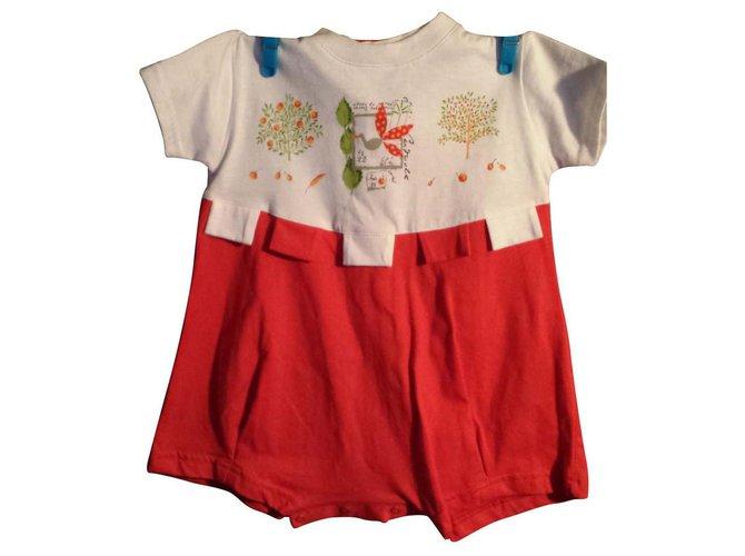 Combinaison fille Catimini Combinaison fille Babymini par Catimini Coton Multicolore ref.114915