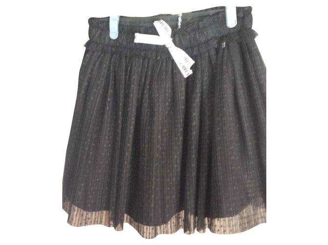 3pommes Black skirt Skirts Polyester Black ref.114923