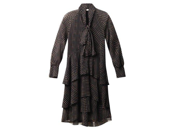 Chloé Dresses Dresses Polyester Black ref.114925