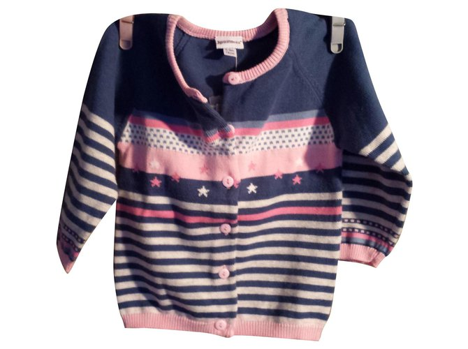 3pommes Girl's vest (6-9months old) Sweaters Cotton Multiple colors ref.114927