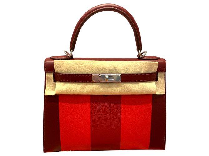 Sacs à main Hermès Kelly Sellier 28 Cuir Multicolore ref.114969