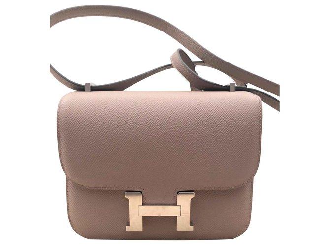 Hermès Hermes bag Constance 18 Asphalt Gray Handbags Leather Grey ref.115059