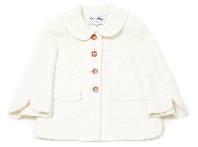 Chanel White gorgeous FR38 Jackets Other White ref.115336