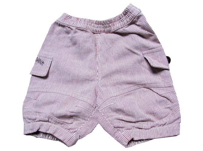 Shorts garçon Baby Dior Shorts de garçons Coton Bordeaux ref.115528