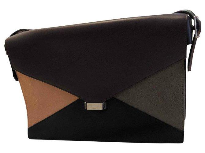 Céline Diamond Handbags Leather Multiple colors ref.115563