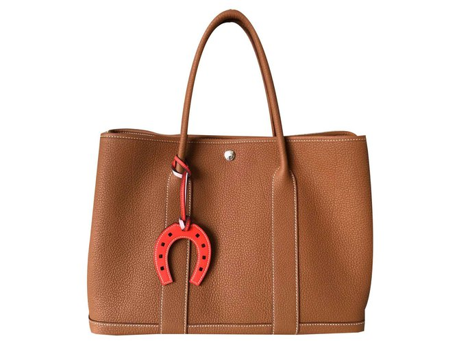 Hermès Garden Party 36 Handbags Leather Caramel ref.115677