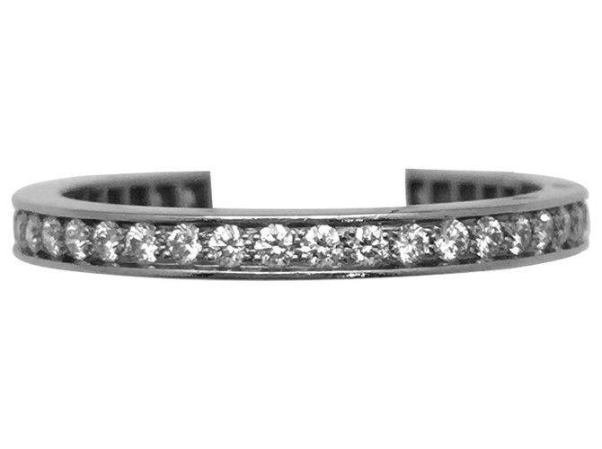 """Bagues Van Cleef & Arpels Alliance Van Cleef and Arpels modèle """"Romance"""" en platine, diamants. Autre,Platine Autre ref.115704"""