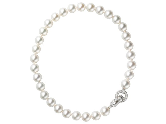 collier perle et or blanc