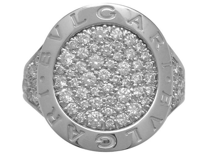 """Bagues Bulgari Bague en or blanc Bulgari modèle """"Bulgari Bulgari"""", diamants. Or blanc,Autre Autre ref.115746"""