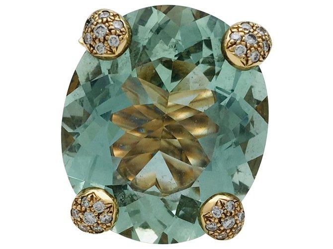 """Bagues Dior Bague Christian Dior """"Miss Dior"""" en or jaune, béryl vert et diamants. Autre,Or jaune Autre ref.115837"""