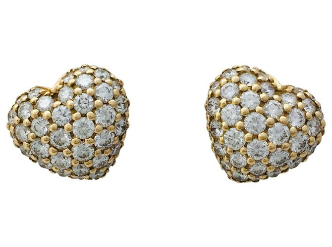 Boucles D'oreilles En Or JauneDiamants Chopard qzSpVUM