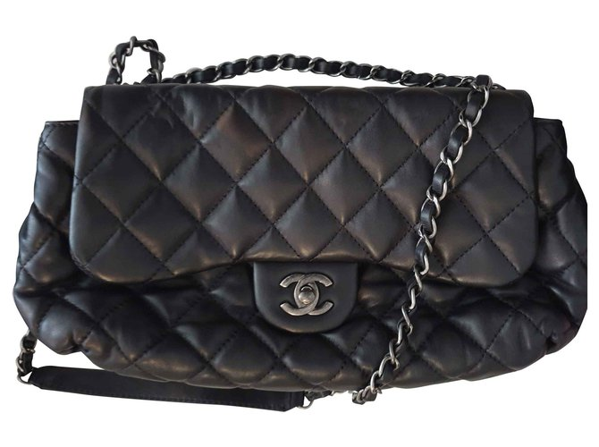 Sacs à main Chanel Timeless Cuir Noir ref.115895